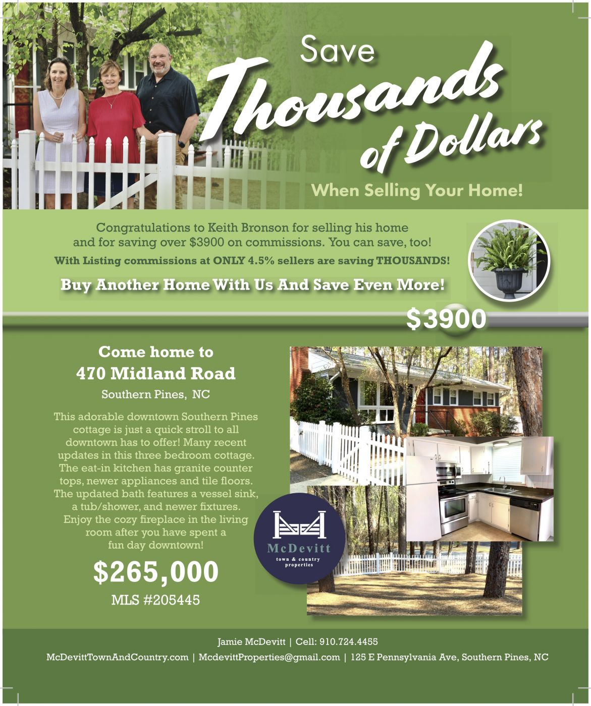 Selling your home Southern Pines NC